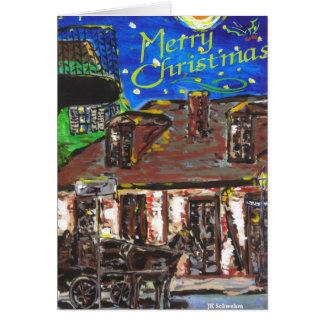 フレンチクォーターのクリスマスカード カード