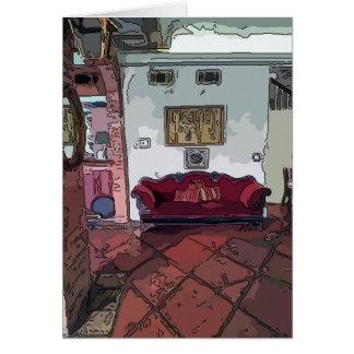 フレンチクォーターのソファー グリーティングカード