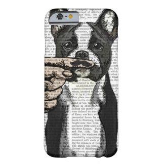 フレンチ・ブルドッグおよび指の口ひげ BARELY THERE iPhone 6 ケース