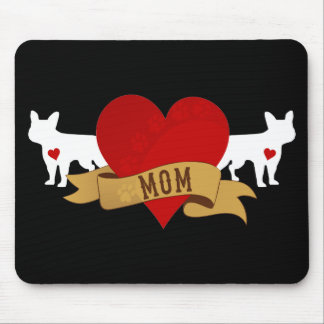 フレンチ・ブルドッグのお母さん[入れ墨のスタイル] マウスパッド