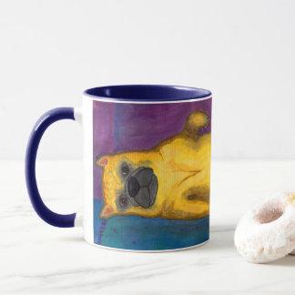フレンチ・ブルドッグのイラストレーション マグカップ