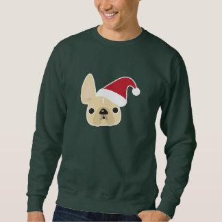 フレンチ・ブルドッグのクリスマスのスエットシャツ スウェットシャツ