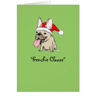 フレンチ・ブルドッグのクリスマス カード