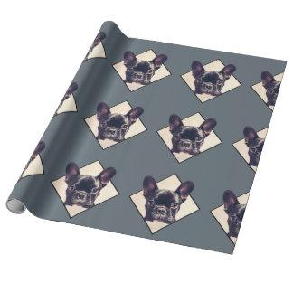 フレンチ・ブルドッグの包装紙 ラッピングペーパー