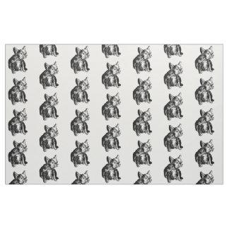 フレンチ・ブルドッグの子犬のカスタムによってとかされる綿 ファブリック