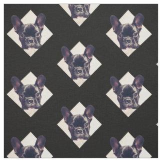 フレンチ・ブルドッグの子犬パターン生地 ファブリック