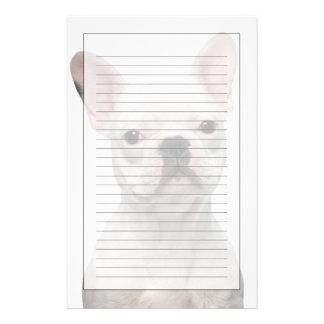 フレンチ・ブルドッグの子犬(5か月古い) 便箋