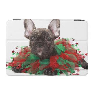 フレンチ・ブルドッグの身に着けているクリスマスつば iPad MINIカバー