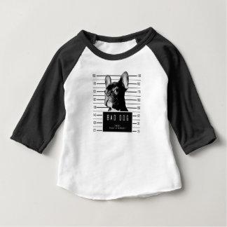 フレンチ・ブルドッグの顔写真のワイシャツ ベビーTシャツ