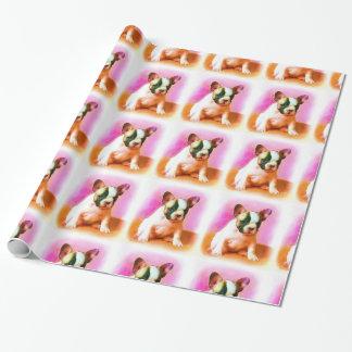 フレンチ・ブルドッグ犬の包装紙 ラッピングペーパー
