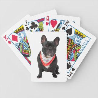 フレンチ・ブルドッグ犬の美しい写真のポートレート、ギフト バイスクルトランプ
