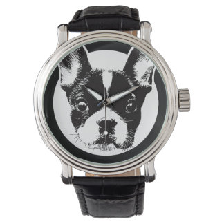 フレンチ・ブルドッグ犬の顔 腕時計