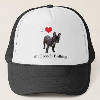 フレンチ・ブルドッグ、私はハート、帽子、帽子、ギフトのアイディアを愛します キャップ
