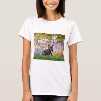 フレンチ・ブルドッグ(br10) -庭 tシャツ