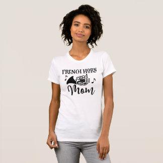 フレンチ・ホルンのお母さんのマーチングバンド音楽ワイシャツ Tシャツ