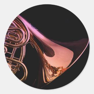 フレンチ・ホルンの楽器のイメージ ラウンドシール