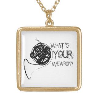フレンチ・ホルンの武器 ゴールドプレートネックレス