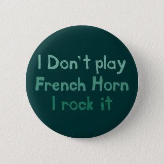 フレンチ・ホルンの石それボタン 5.7CM 丸型バッジ