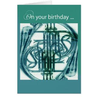 フレンチ・ホルンの誕生日 グリーティングカード