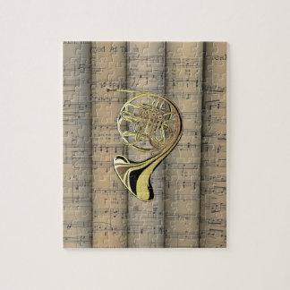 フレンチ・ホルンの~は楽譜の背部~のミュージカルを転がりました ジグソーパズル