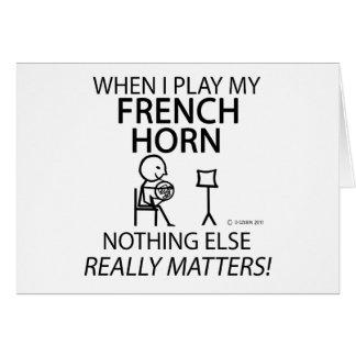 フレンチ・ホルンは何も重要です カード