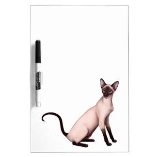 フレンドリーなシャム猫のホワイトボード ホワイトボード