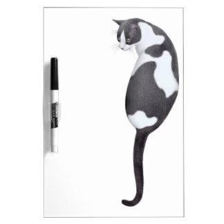 フレンドリーなタキシード猫のホワイトボード ホワイトボード