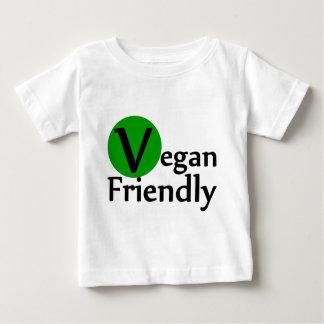 フレンドリーなビーガン ベビーTシャツ