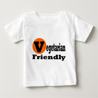 フレンドリーなベジタリアン ベビーTシャツ