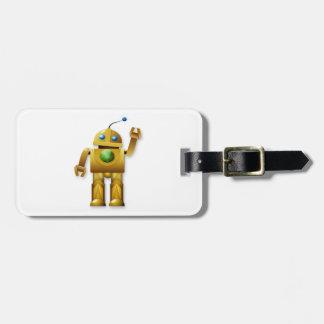 フレンドリーなロボット荷物のラベル ラゲッジタグ