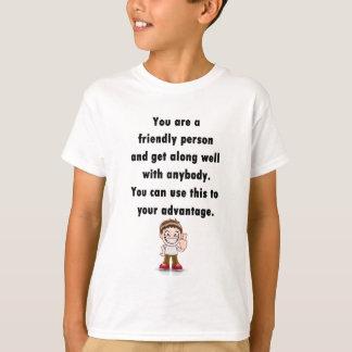 フレンドリーな人 Tシャツ