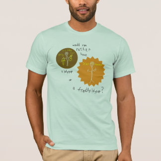 フレンドリーな棒つきキャンデー Tシャツ