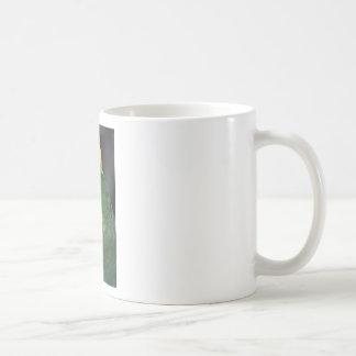 フレンドリーな緑のオウムの子供 コーヒーマグカップ