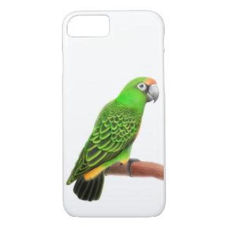 フレンドリーな緑のJardinesのオウムのiPhone 7の箱 iPhone 8/7ケース