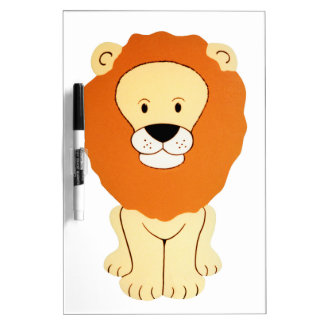 フレンドリーな金ライオン ホワイトボード