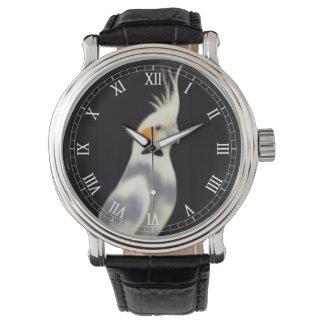 フレンドリーな雑色のCockatielの腕時計 腕時計
