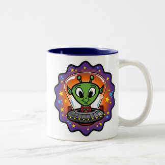 フレンドリーなUFO ツートーンマグカップ