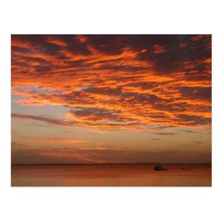 フレーザー島の日没 ポストカード