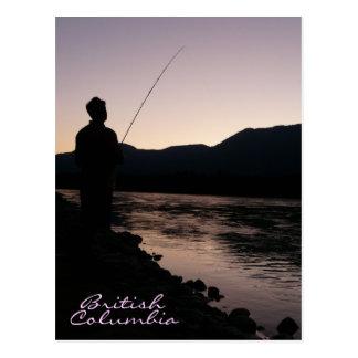 フレーザー川のブリティッシュ・コロンビアの魚釣り ポストカード