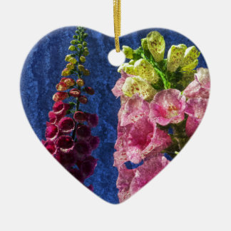 フレームとの質のFoxgloveの花 セラミックオーナメント