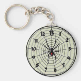 フレームの13時間のクロゴケグモの時計 キーホルダー