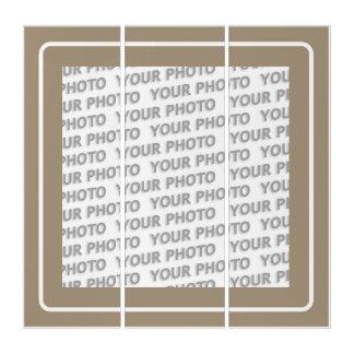 フレーム-石造りの白のフレーム + あなたのイメージ トリプティカ