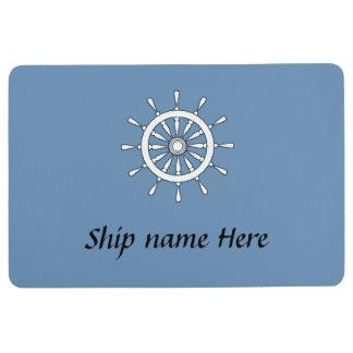 フロアマット-船の名前の舵輪 フロアマット