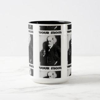 フロイト「あなたのお母さん」の- 15ozコーヒーカップ ツートーンマグカップ