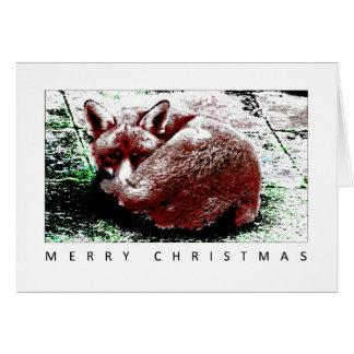 フロストのキツネ、メリークリスマス カード