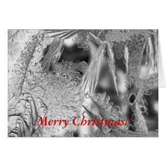 フロストのデザインのクリスマスの挨拶状 グリーティングカード