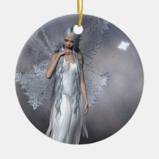 フロストの銀製の妖精 セラミックオーナメント