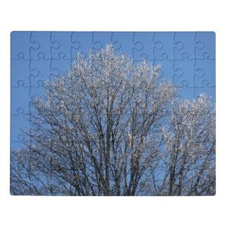 フロストは午前中木を覆いました ジグソーパズル