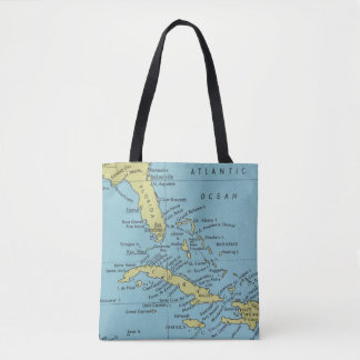 フロリダおよびキューバののヴィンテージの地図トートバック トートバッグ