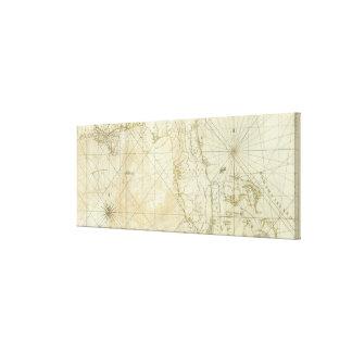 フロリダおよびバハマ(1776年)のヴィンテージの地図 キャンバスプリント